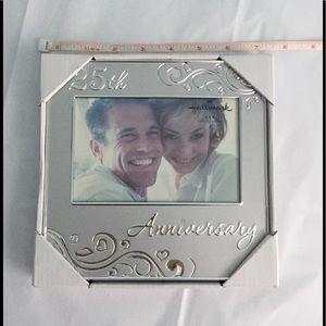 25th Anniversary photo frame- Hallmark Brand. NIB!